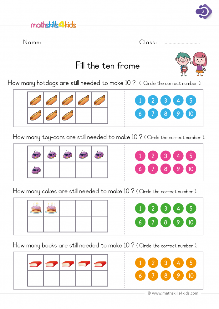 Maths Worksheets For Class 1