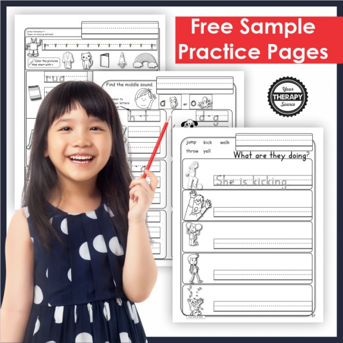 Free Handwriting Worksheets For Kindergarten