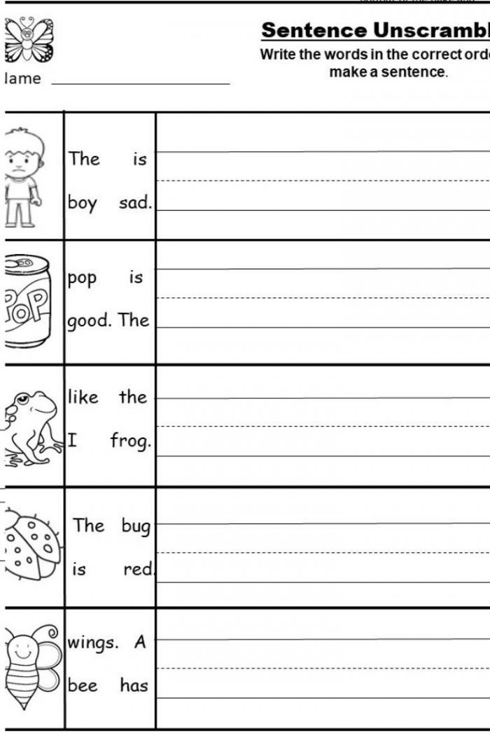 Free Kindergarten Writing Printable