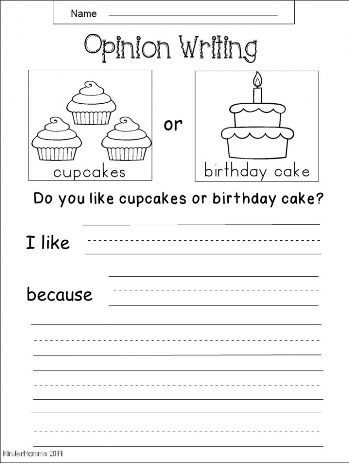 Free Kindergarten Writing Worksheets