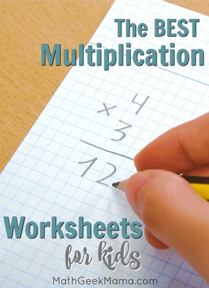 Free Multiplication Facts Worksheets For Kids Interactive Ideas