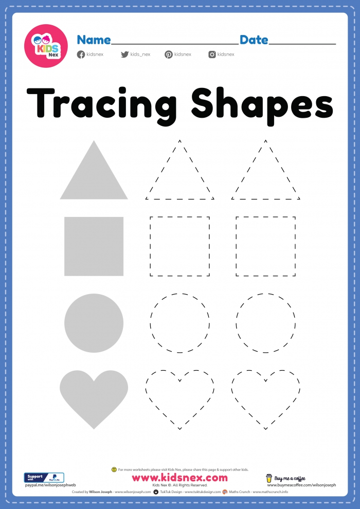 Free Printable Shapes Worksheet For Kindergarten Preschool