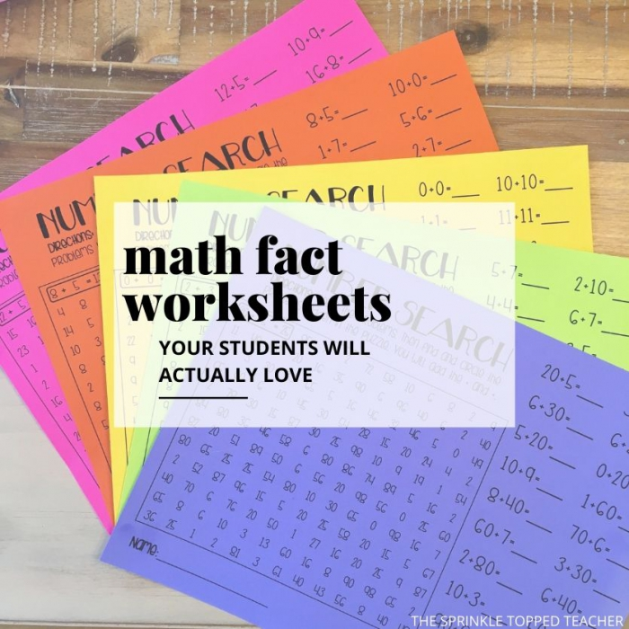 Fun Math Fact Worksheets For Nd Grade Students