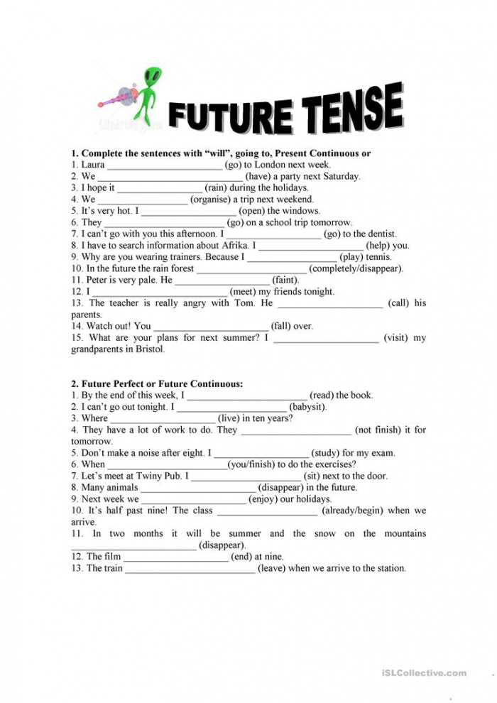 Future Tense Exercises