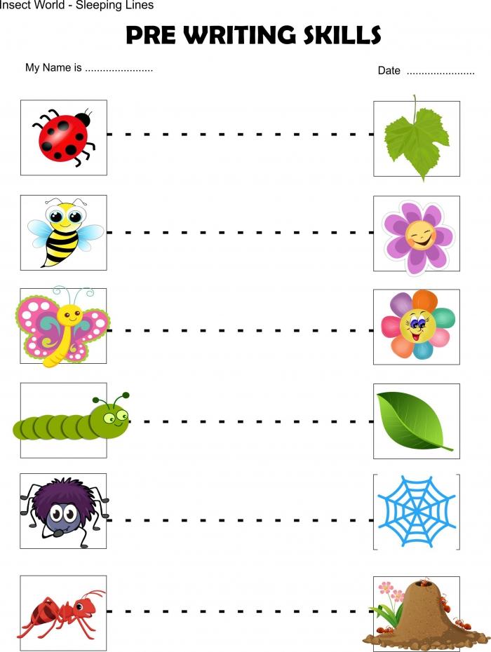Insect Toddler Worksheet Beginner Sleeping