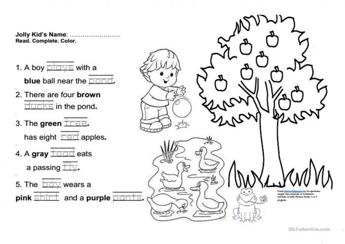 Jolly Phonics Book Fun Final Test