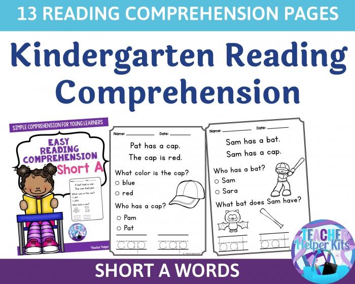 Kindergarten At Home Reading Worksheets Kindergarten