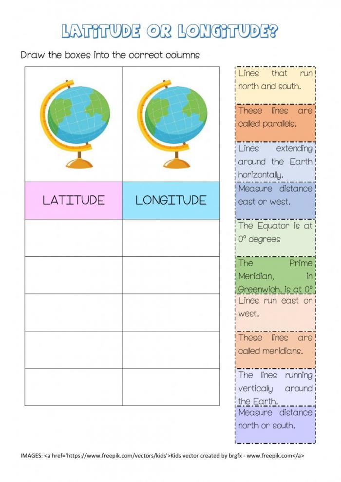 Latitude Vs Longitude Worksheet