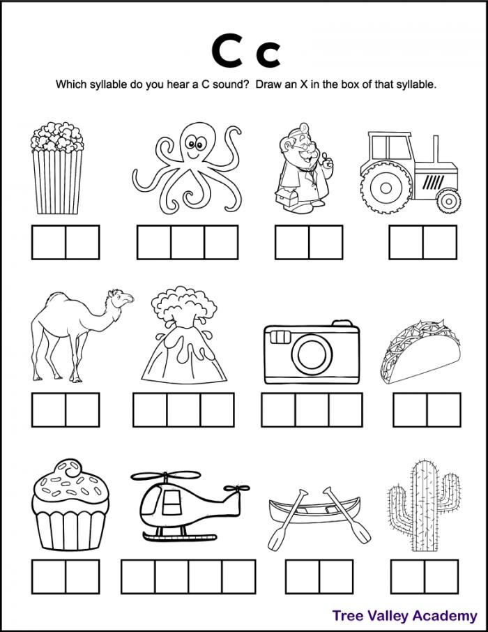 Letter C Sound Worksheets