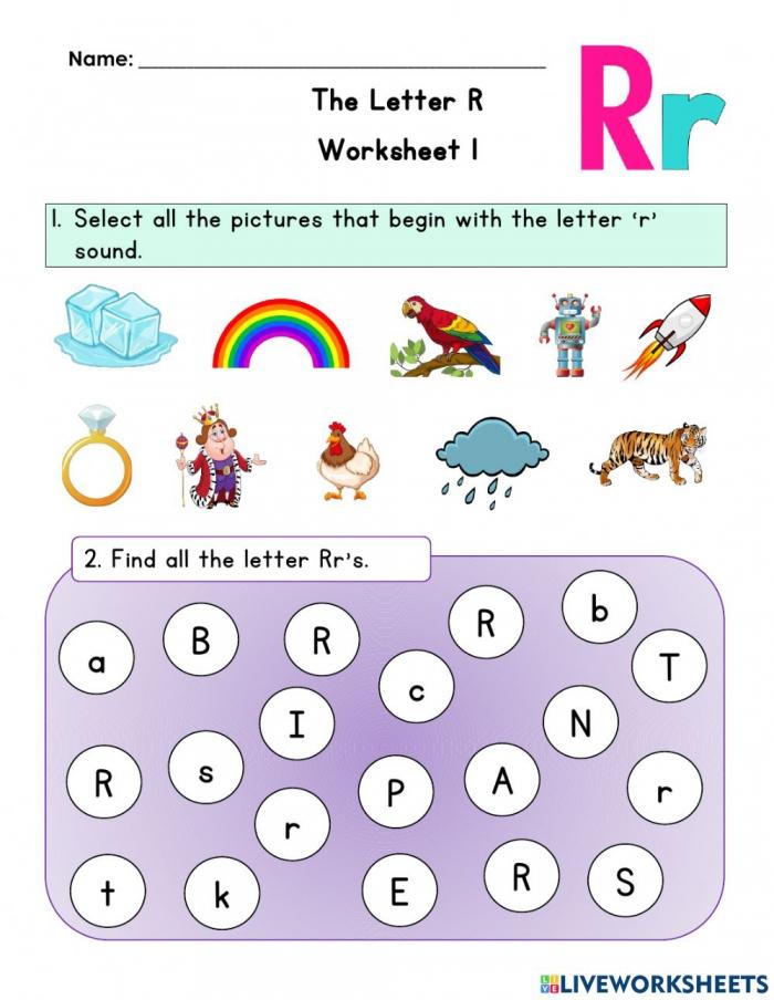 Letter R Worksheet Worksheet