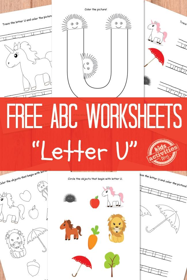 Letter U Worksheets Free Kids Printable