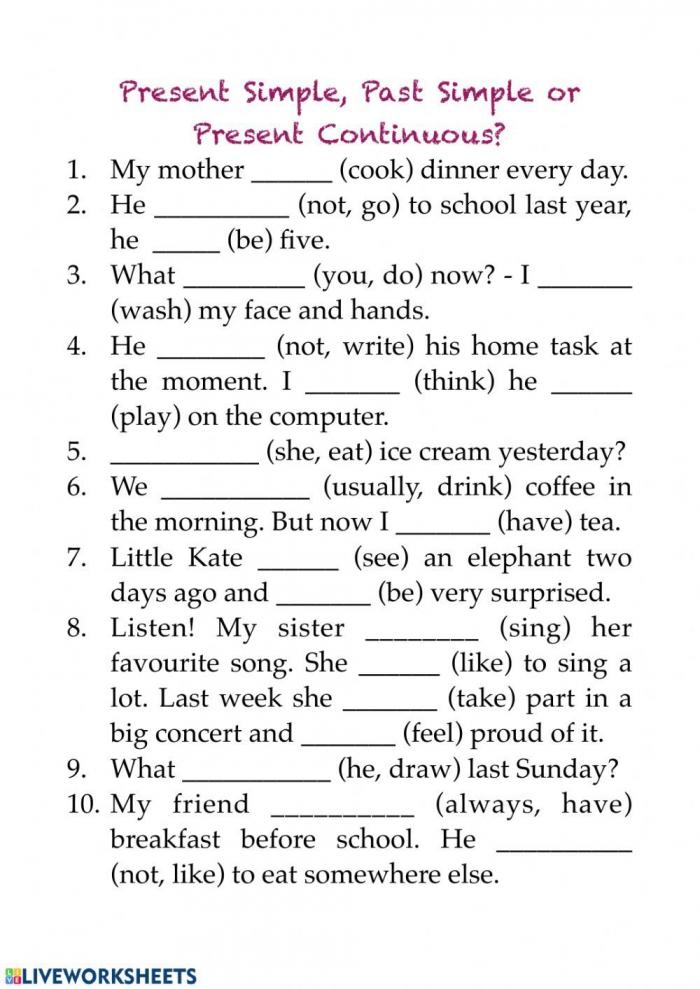 Live Worksheets Ideas