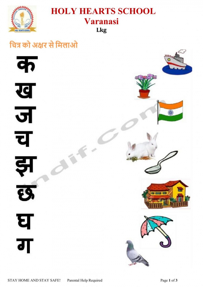Lkg Hindi Test Worksheet