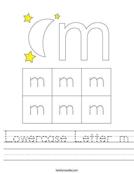 Lowercase Letter M Worksheet
