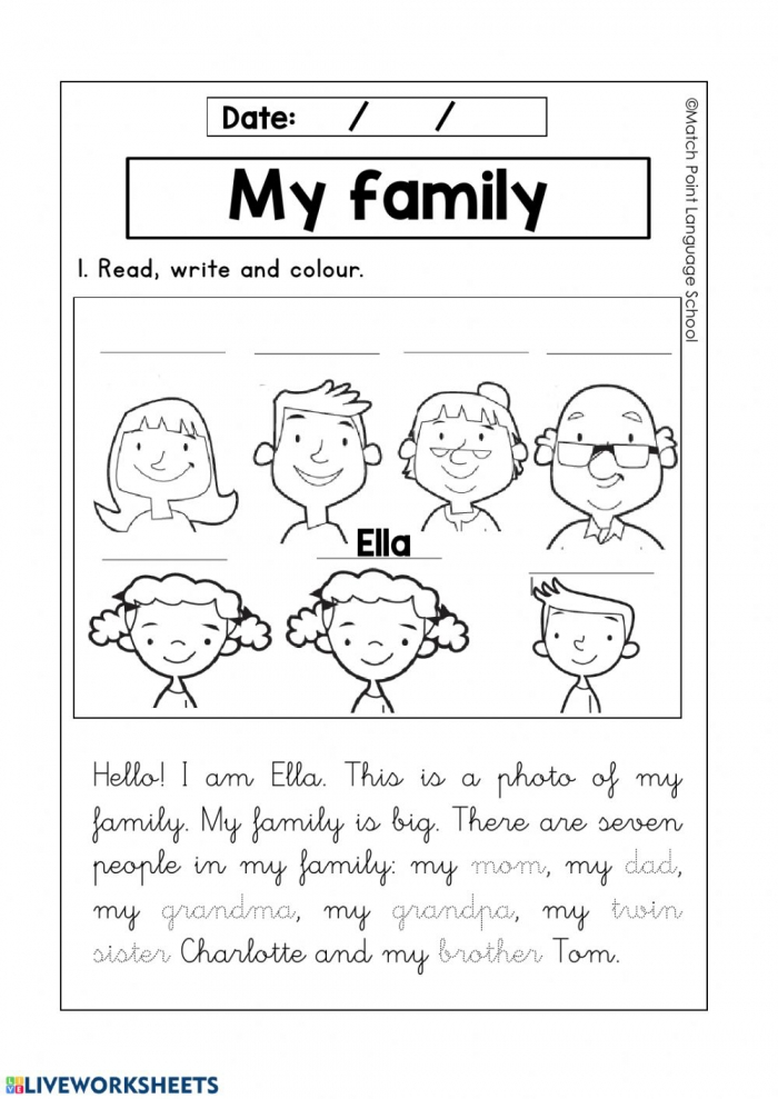 My Family Activity For Beginners