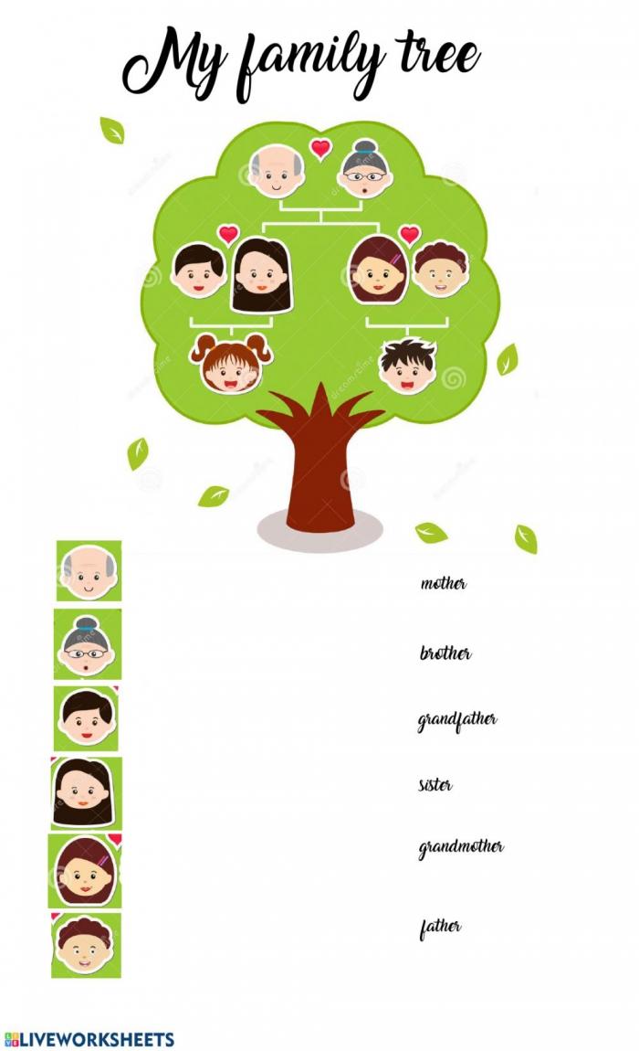 My Family Tree Interactive Worksheet