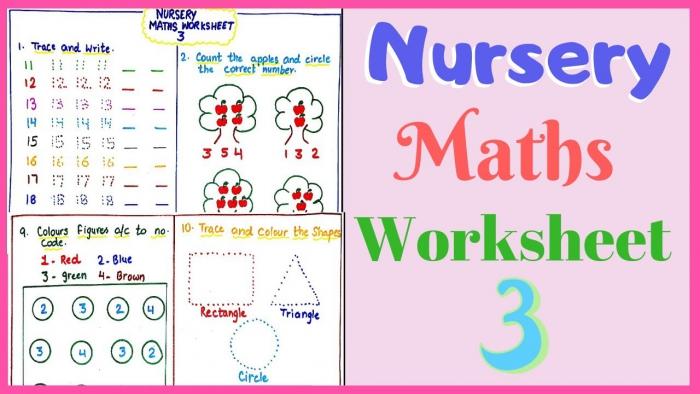 Nursery Maths Worksheet Part