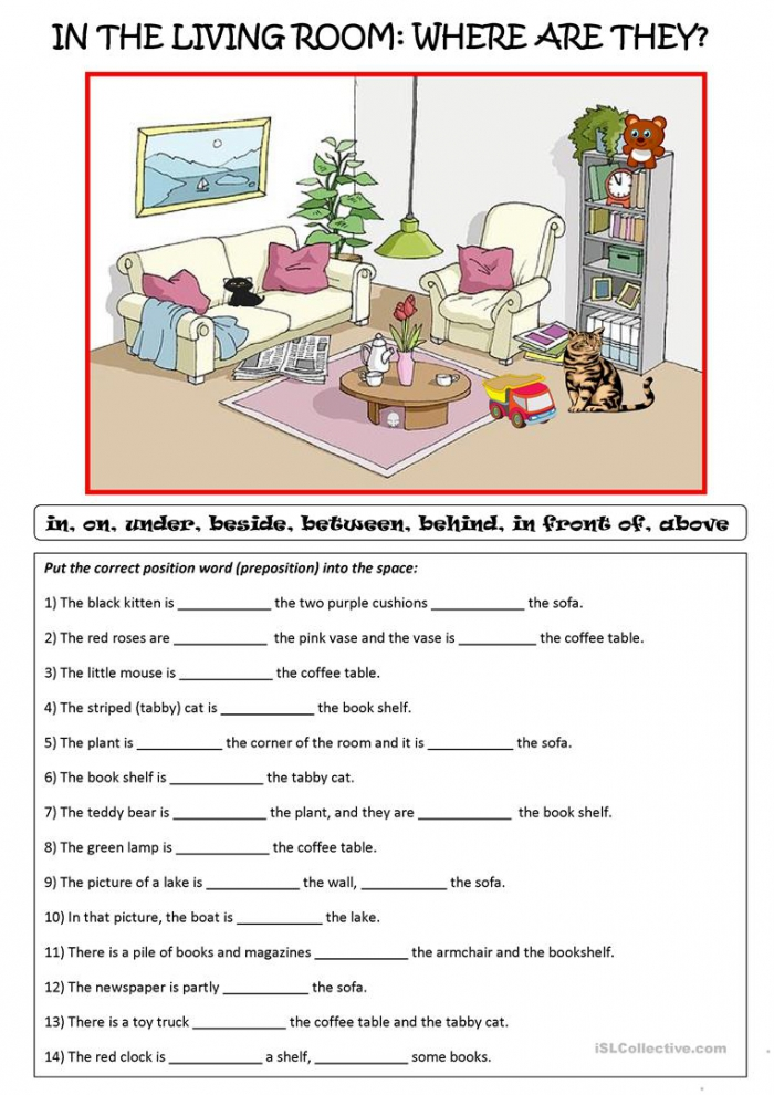 Practice With Prepositions Of Place