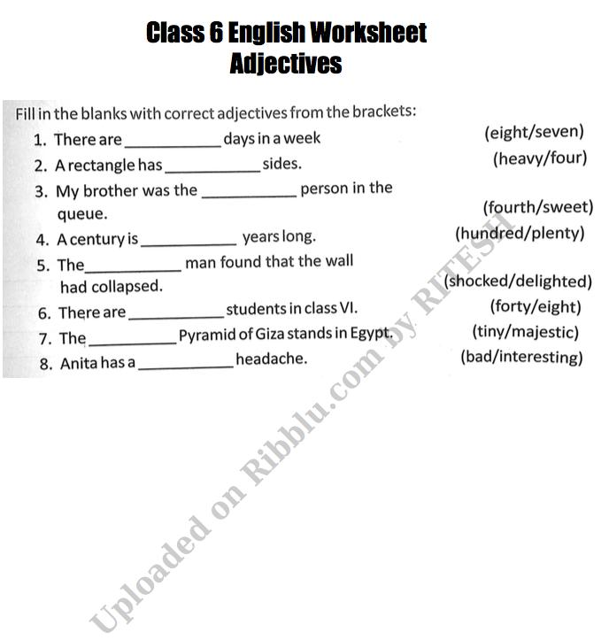 Printable Cbse Class English Grammar Worksheets