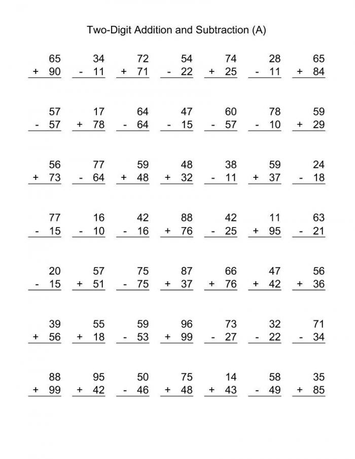 Printable Nd Grade Math Worksheets Printable Kids Worksheets