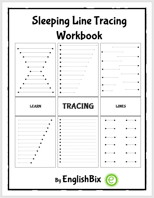 Sleeping Line Tracing Mini Workbook For Kids