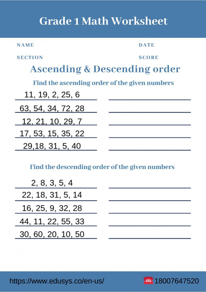 St Grade Math Worksheet Free Pdf Printable By Nithya