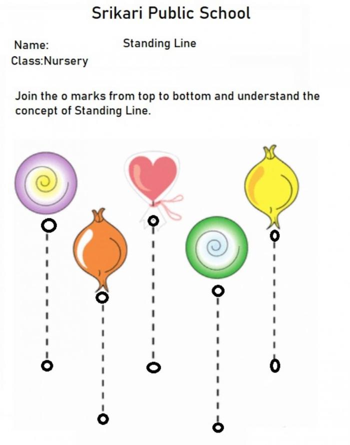 Standing Lines Worksheet