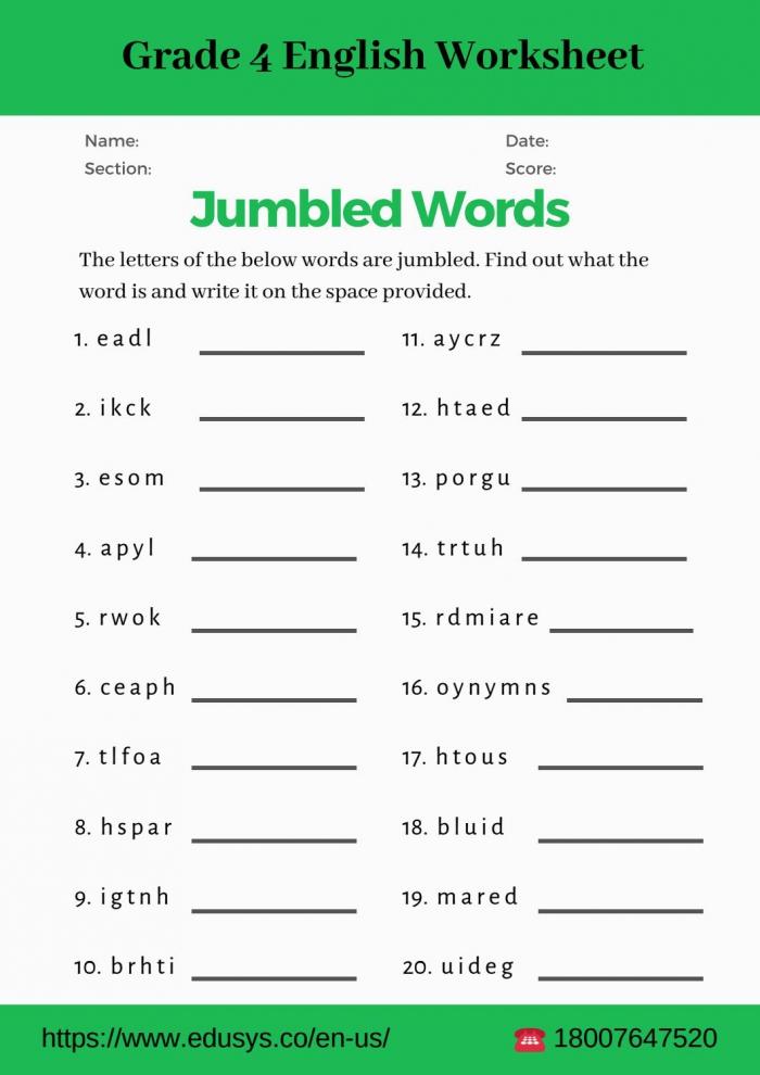 Th Grade English Vocabulary Worksheet Pdf By Nithya