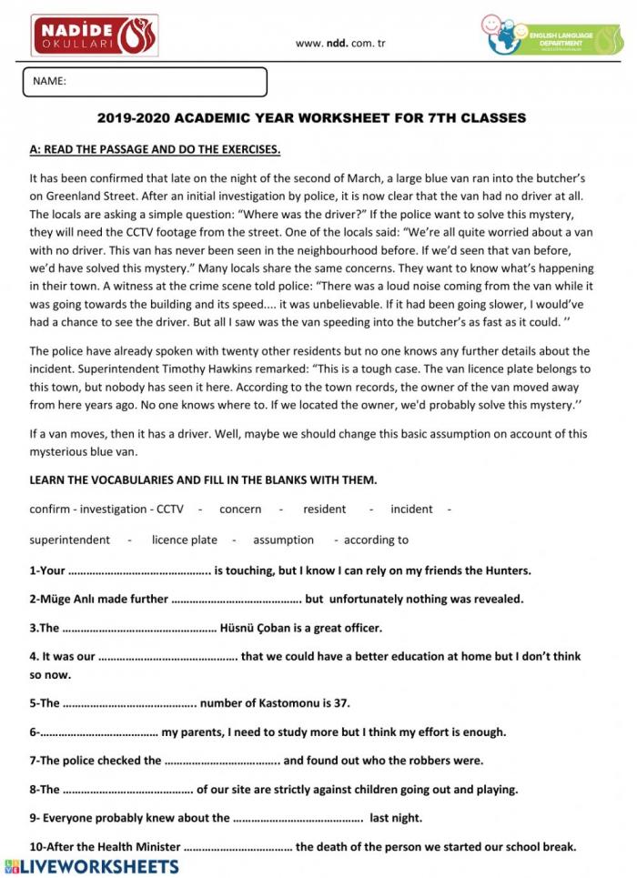 Th Grade Grammar Worksheet