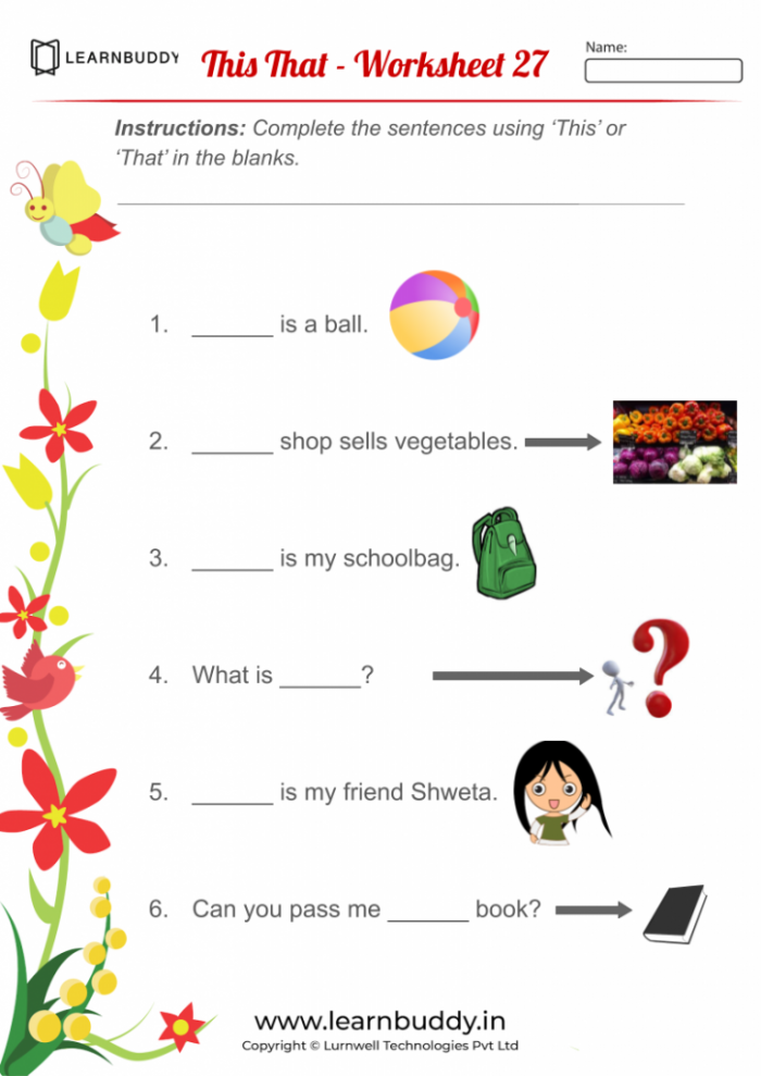 This That Practice Worksheets For Class Learnbuddyin