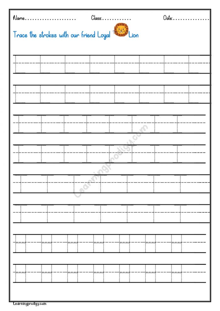 Tracing Line Worksheet For Preschoolers