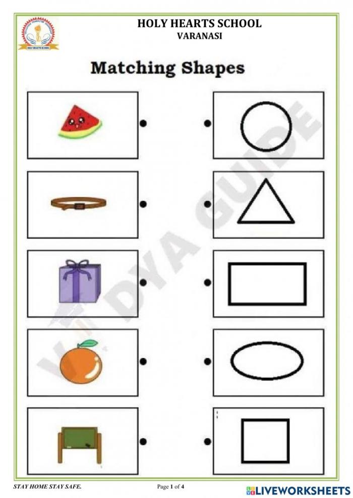 Ukg Maths Time And Shapes Worksheet