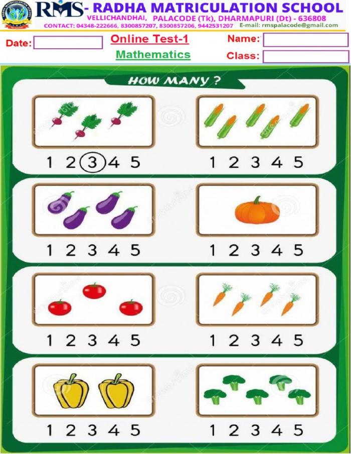 Ukg Maths Worksheet