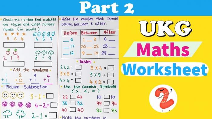 Ukg Maths Worksheet Maths Worksheet For Ukg Senior Kg Maths