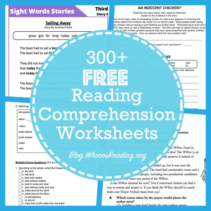 Websites For Free Reading Comprehension Worksheets