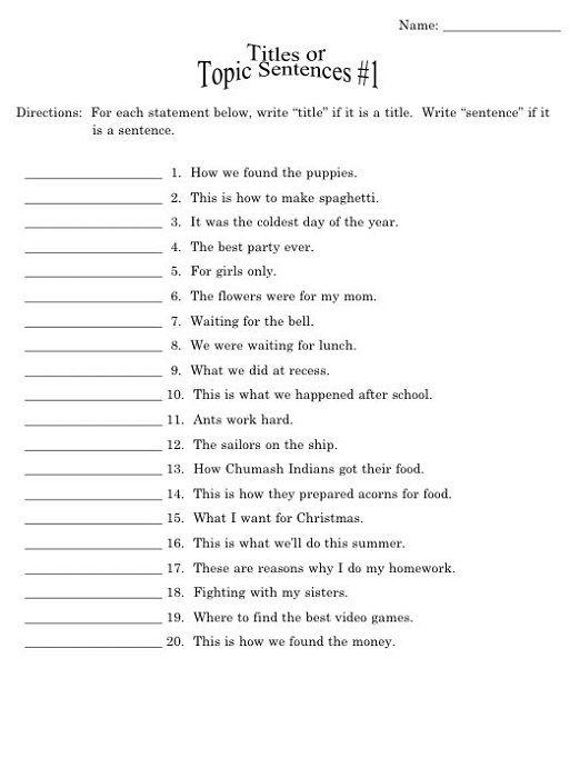 Year English Worksheets Free Printable