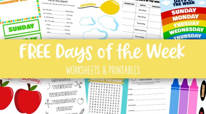 Days Of The Week Worksheets Printables