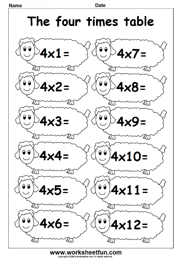 Multiplication Times Tables Worksheets Times Tables