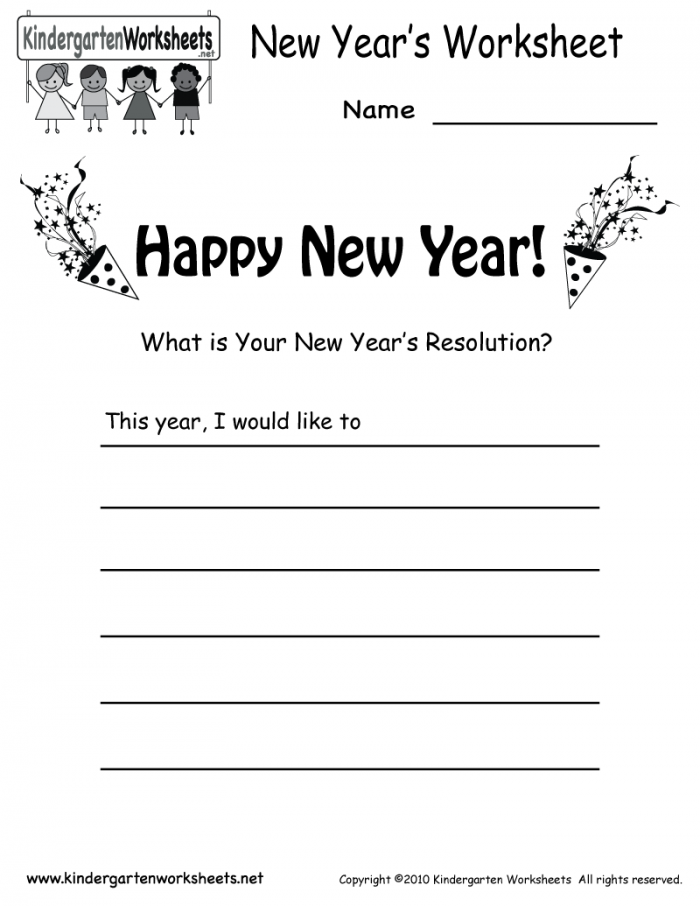 New Year Holiday Greeting Cards Teachers Worksheets