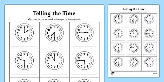 Half Past And Quarter Past Worksheets