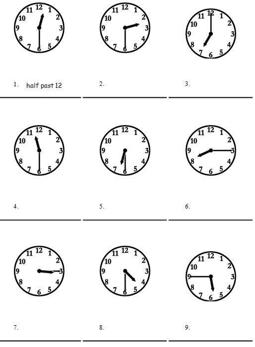 Time In English Exercises Worksheets