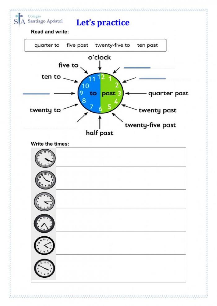 The Time Online Pdf Worksheet For Grade
