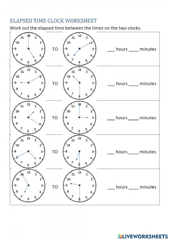 Time Online Exercise For Grade