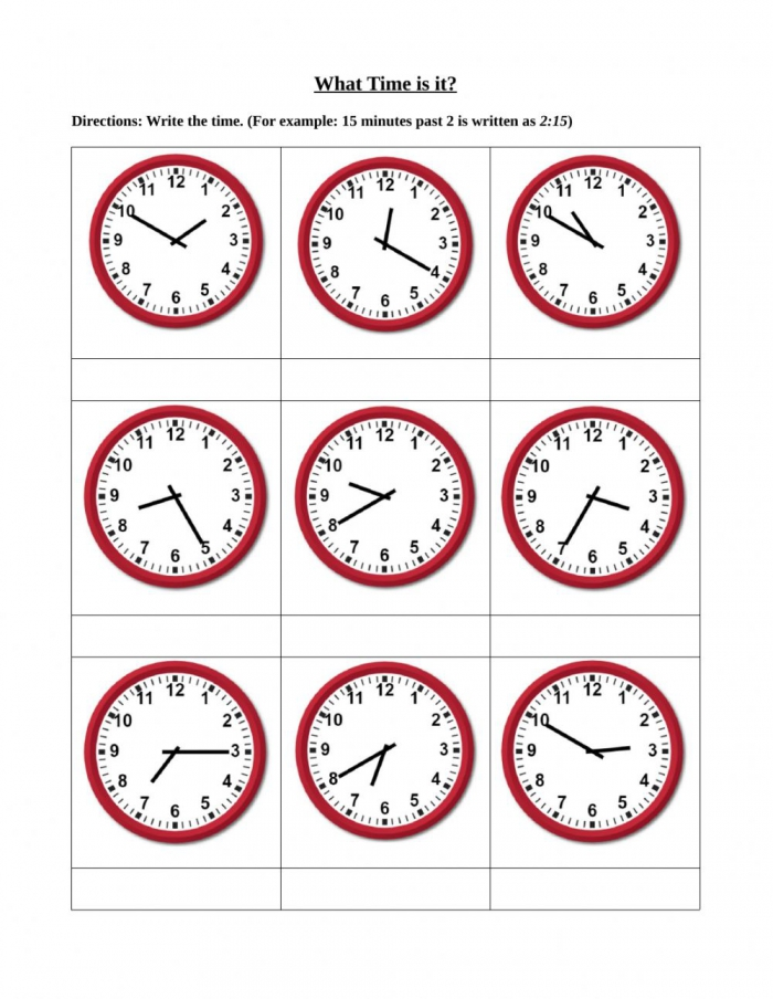 Telling Time To The Nearest Minute Worksheets